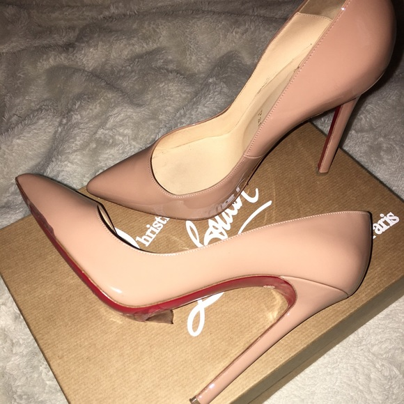 Christian Louboutin Shoes Nude Christian Louboutin Pigalle 120 Calf