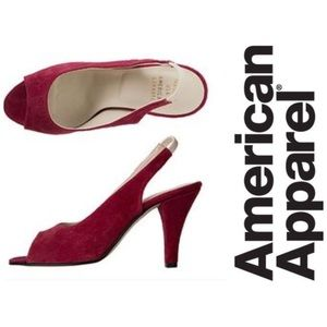 American Apparel Shoes - • American Apparel • Burgundy Slingback