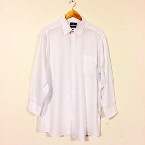 Dockers White Pinstripe Shirt