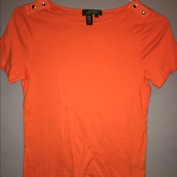 Lauren Ralph Lauren Tops - Lauren RALPH LAUREN Orange Short Sleeve T-Shirt