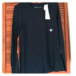 Lands' End Tops - Land's End Long Sleeve Shaped Basic Tee