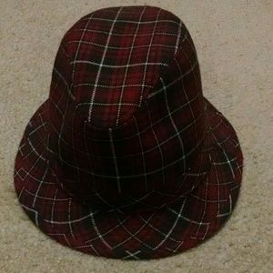 8858de840ce Accessories - Cute Red Plaid Fedora Hat for Women