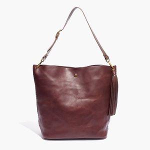 ✨ Madewell Rivet and Thread Tassel Bucket Bag