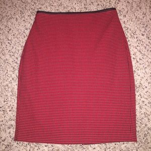 Express Dresses & Skirts - Express Long Red Houndstooth Pencil Skirt
