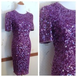 🎈sale🎈Vintage Holiday Leslie Fay Sequin Dress, 4