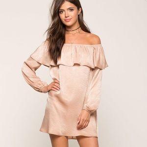 a'gaci Dresses & Skirts - Charmed Ruffled Satin Dress