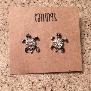 Sparkly Sea Turtle Earrings!