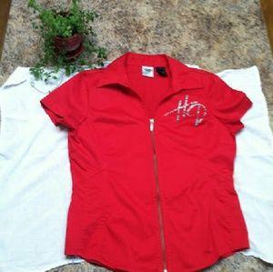 Harley-Davidson Tops - Harley-Davidson Garage shirt bling  full zip #HOT