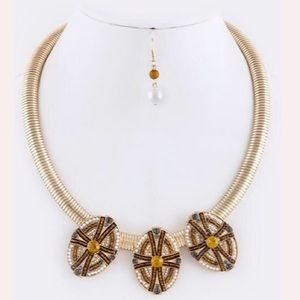 Beaded Ornate Snake Necklace Set