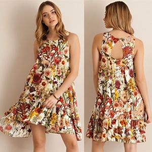 🆕ABBIE sleeveless floral print dress - NATURAL