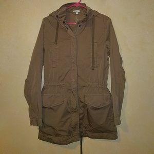 James Perse Jackets & Blazers - James Perse Khaki Utility Anorak Jacket