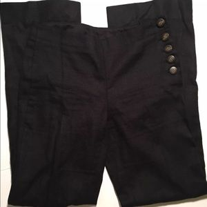Anthropologie Elevenses Black sailor pants