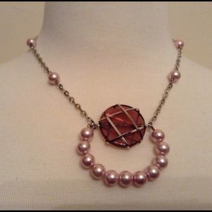 Pink-pearled Necklace.