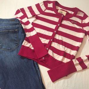 Hollister Sweaters - Hollister striped cardigan sweater