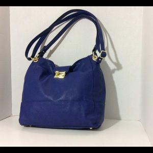 Cute Royal Blue Pebble Leather Crossbody Purse ✨