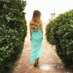 Dresses & Skirts - lace bust maxi dress