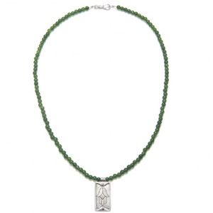 Satya Jewelry Jewelry - Satya Hamsa Jade Necklace, 20""