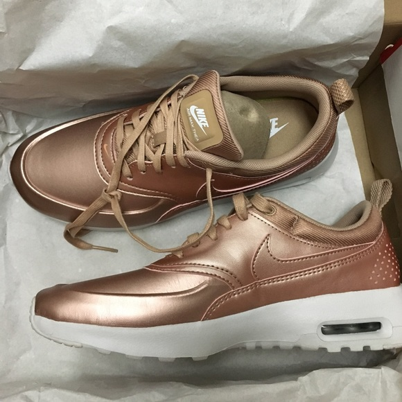 Nike Shoes | Air Max Thea Rose Gold Metallic Red Bronze | Poshmark