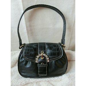 Kathy Van Zeeland Handbags - Kathy Van Zeeland Mini Wedding Bag / Black Croc