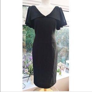 Ted Baker Wool Crepe Black Cocktail Dress TB3/US8