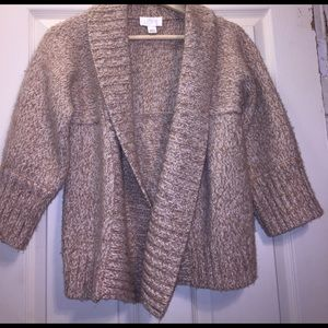 Loft 3/4 sleeve oatmeal sweater