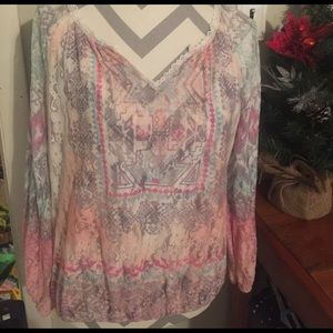 Pretty pastel colored western blouse