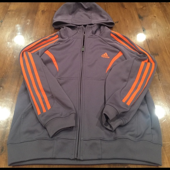 9a76f55fd7ac Adidas Other - Adidas Boys nylon zip front hoodie