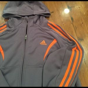 2807a3e19911 Adidas Shirts   Tops - Adidas Boys nylon zip front hoodie