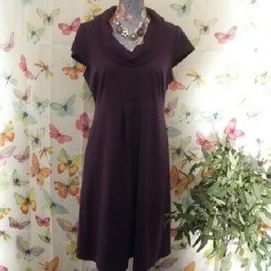Spense Dresses & Skirts - Spenser Cowl Neckline Plum Sheath Dress EUC NICE