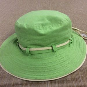Scala Accessories - Scala Collezione Linen Green Bucket Wide Brim Hat