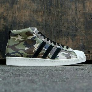 Adidas Other - Adidas Pro Model 80s High Top Camo Shoes Sneakers