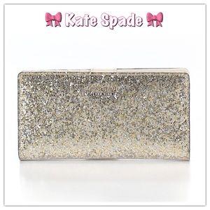 kate spade Handbags - NWOT🎀Gorgeous Gold Glitter Kate Spade Wallet🎀