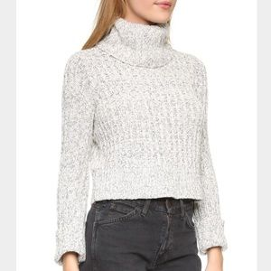 Free People Knitted Turtle Neck Sweater S