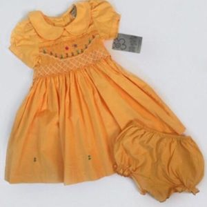 Other - NWT! Sissy Mini yellow smocked dress