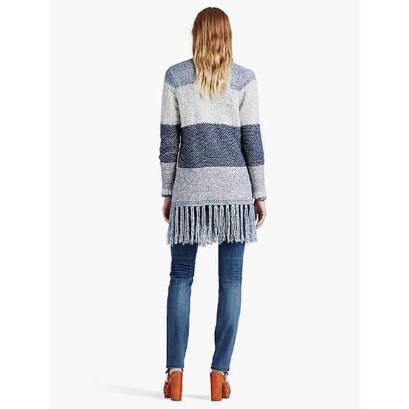 68% off Lucky Brand Sweaters - Lucky Brand Textured Stripe Fringe ...