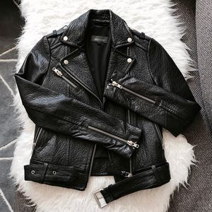 Aritzia Rumer Leather Jacket
