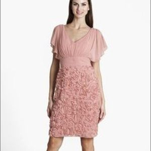 JS Collections Dresses & Skirts - JS Collections Pink Rosette Chiffon Dress