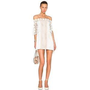 Self Portrait size 2 Serena dress in off white