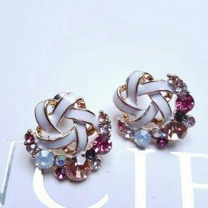 Jewelry - Shooting Rainbow Stars Crystal Earrings