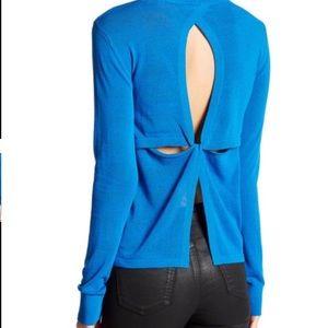 A.L.C. Tops - A.L.C. Cutout knit top nwt Sz large blue