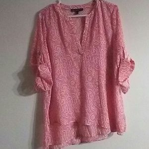 Original Retro Brand Tops - Sheer blouse by outback red sz M
