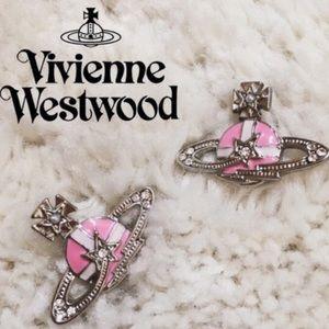Vivienne Westwood Jewelry - 💯Vivienne Westwood pink rock earrings