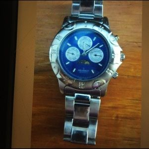 Peugeot Other - Peugeot Mens Chronograph Silver/Blue Moon Watch