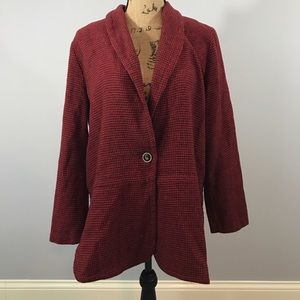 Coldwater Creek Jackets & Blazers - Houndstooth Red Jacket