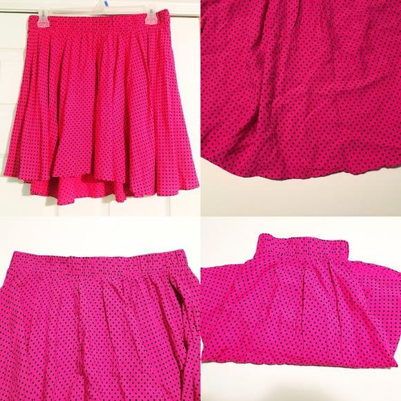 torrid Skirts - NWOT Pink Polka Dot Skater Skirt