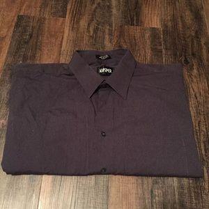 Black/Dark Grey Striped Dress Shirt