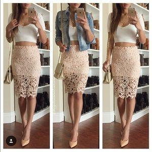 Dresses & Skirts - Pink crochet skirt