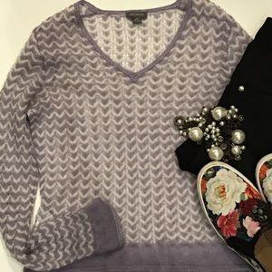 Ann Taylor mohair sweater chevron knit