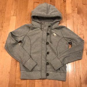 Abercrombie gray knit jacket