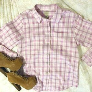 NWOT L.L. Bean Flannel Long Sleeve Button Down, S